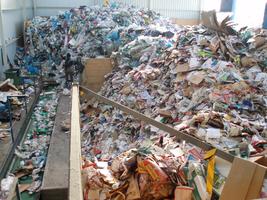 Třídírna komunálního odpadu